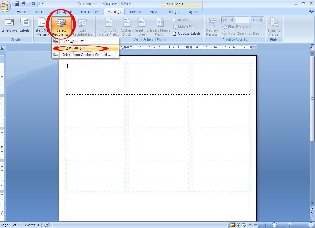 Cara Membuat Label Undangan di Kertas Koala 103 untuk Ms